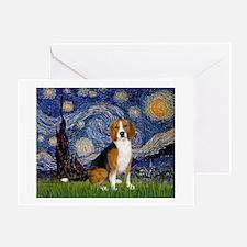 Starry Night & Beagle Greeting Card