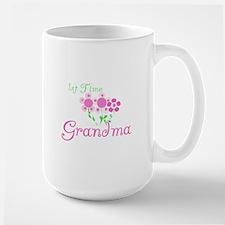 1st Time Grandma Ceramic Mugs