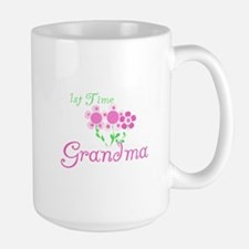 1st Time Grandma Large Mug