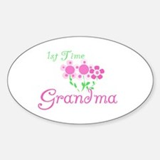 1st Time Grandma Oval Decal