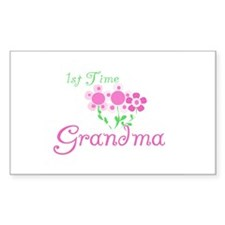 1st Time Grandma Rectangle Decal