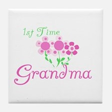 1st Time Grandma Tile Coaster
