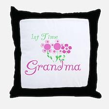 1st Time Grandma Throw Pillow