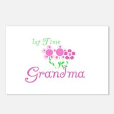 1st Time Grandma Postcards (Package of 8)