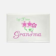 1st Time Grandma Rectangle Magnet