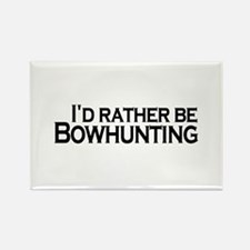 Rather be Bowhunting Rectangle Magnet
