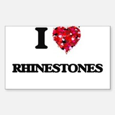 I Love Rhinestones Decal