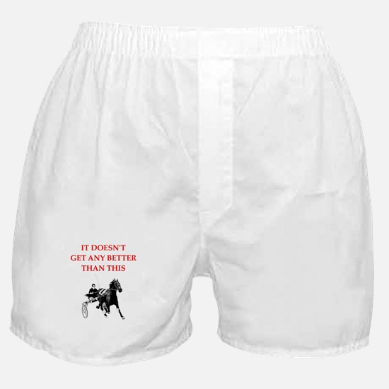 harness racing joke Boxer Shorts
