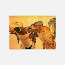 western country Mallard Duck 5'x7'Area Rug