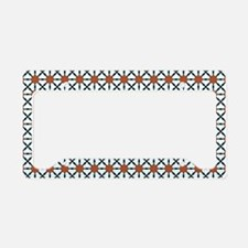 Cute Trendy Pattern Background License Plate Holde