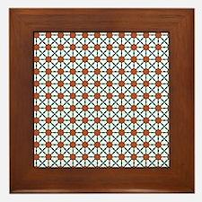 Cute Trendy Pattern Background Framed Tile
