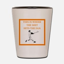 baseball joke Shot Glass