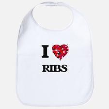 I Love Ribs Bib