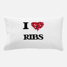 I Love Ribs Pillow Case