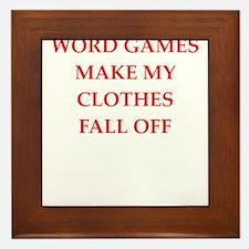 word games Framed Tile