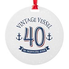 Nautical 40th Birthday Ornament