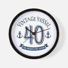 Nautical 40th Birthday Wall Clock