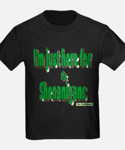 Just here for the shenanigans (green) T-Shirt