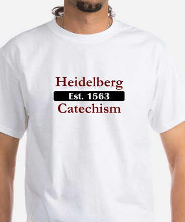 Heidelberg Catechism 2-Sided White T-Shirt