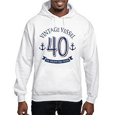 Nautical 40th Birthday Hoodie