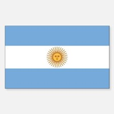 Flag of Argentina Rectangle Decal
