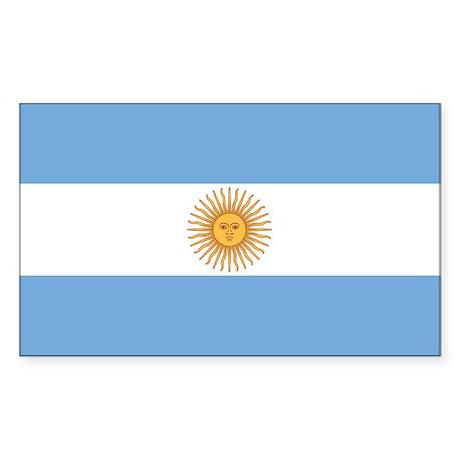 Flag of Argentina Rectangle Sticker
