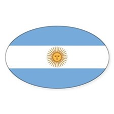 Flag of Argentina Oval Decal