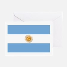 Flag of Argentina Greeting Cards (Pk of 10)