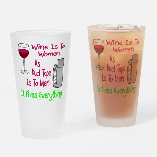Wine Is To Women As Drinking Glass