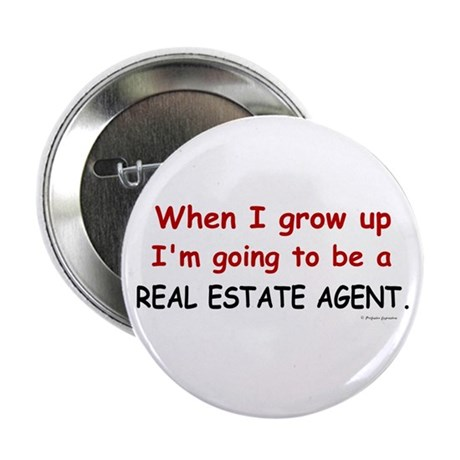 Real Estate Agent (When I Grow Up) Button