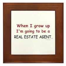 Real Estate Agent (When I Grow Up) Framed Tile