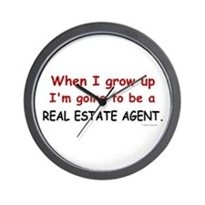 Real Estate Agent (When I Grow Up) Wall Clock