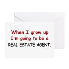 Real Estate Agent (When I Grow Up) Greeting Card