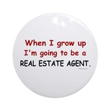 Real Estate Agent (When I Grow Up) Ornament (Round