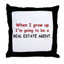 Real Estate Agent (When I Grow Up) Throw Pillow