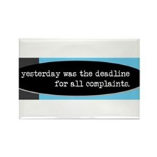 yesterday was the complaint deadline Magnets
