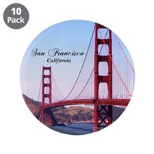 "San Francisco 3.5"" Button (10 pack)"
