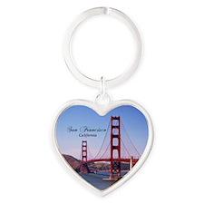 San Francisco Heart Keychain