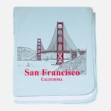 San Francisco baby blanket