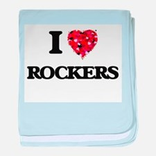 I Love Rockers baby blanket