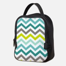 Ocean Colors Chevron Pattern Neoprene Lunch Bag