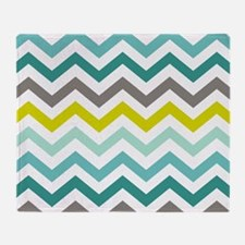 Ocean Colors Chevron Pattern Throw Blanket