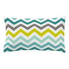 Ocean Colors Chevron Pattern Pillow Case