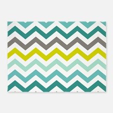 Ocean Colors Chevron Pattern 5'x7'Area Rug