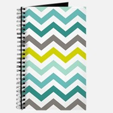 Ocean Colors Chevron Pattern Journal