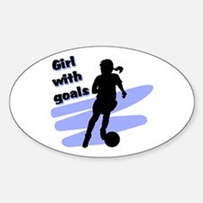 Girl with goals Oval Decal