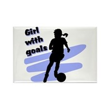 Girl with goals Rectangle Magnet