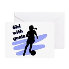 Girl with goals Greeting Card
