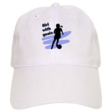 Girl with goals Baseball Cap