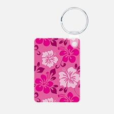 Shades of pink Hawaiian Hibiscus Keychains